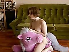 porn vids pink horse masturbation at PornoMovies.com