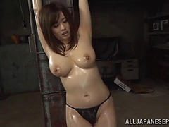 Lads cannot keep their hands off her biggest natural Japanese breasts