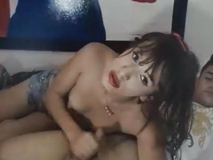 Cute Ladyboy is a Wonderful Oral Stimulation Giver