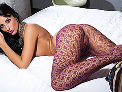 Dark Brown in hot hose teases with her firm booty