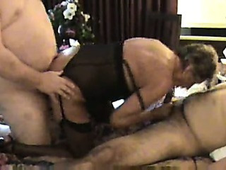 Sex Movie of Granny In Black Stockings Likes A Choice Of Cocks