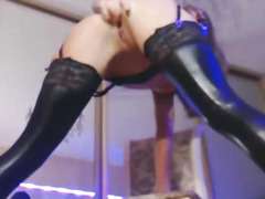 Seductive Dark Brown Dances And Fingers Her Vagina