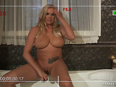 Breasty wife Briana Banks makes her 1st porn episode at home