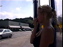Marvelous golden-haired peeing in a bus station On xPee