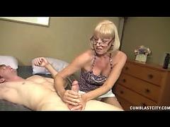 Granny Sucks Shlong And Receives A Giant Facial