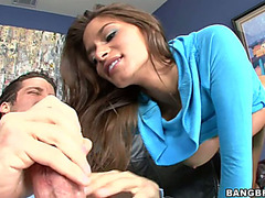 Chap bonks amazing vagina of Madelyn Marie after oral-sex