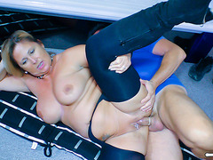Golden-Haired and large-titted German housewife receives her non-professional snatch fucked fearsome-fearsome PornDoe