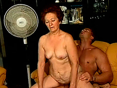 Sex starving granny bonks youthful dude in provocative old and youthful porn clip