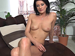 Dark-haired mother I'd like to fuck Plays With Herself After Lengthy Interview