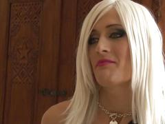 Transsexual hooker swallows