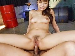 Hawt Oriental hottie enjoys each second of vigorous pounding
