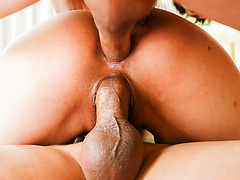 double penetration and a creampie for an Oriental beauty