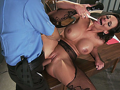 Large meatballs hottie Phoenix Marie getting her soaked muff gangbanged out