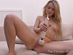 Large Natural Milk Shakes Hitachi Masturbation to Big O