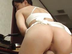 Yui Kasugano sites and endures shlong in coarse modes
