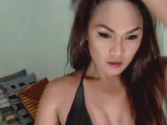 Concupiscent Tgirl With Large Dong on Livecam