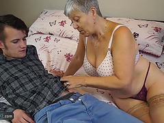 Granny Savana Screwed by Youthful lad menacing-fearsome Aged-Kitchen