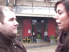 Amsterdam slut jizzed in throat