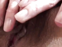 Yuna Hirose tries a large dong inside her furry love tunnel