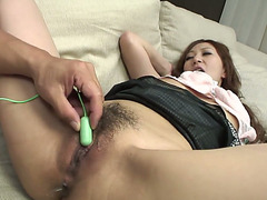 Freaky dude pleases hawt kitty of his bitchy Oriental sweetheart Anna Mizukawa with marital-device