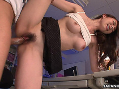 Breathtaking Oriental Floozy Getting Screwed In Her Office