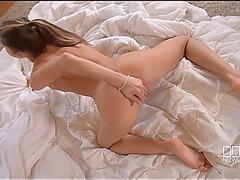 Diminutive Euro chick Gina Gerson masturbates and groans