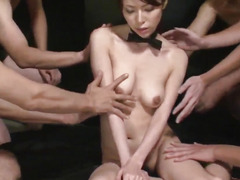Rino Asuka plays wicked with a group of slutty studs