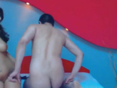 Superhot Brunette Hair Receives To Engulf And Fuck A Favourable Lad