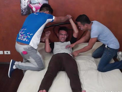Straight Oriental Lad Jaymes Tickled and Sucked