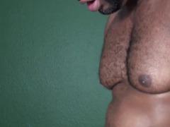 Darksome bareback bear assfucking aged