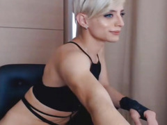 Breathtaking Lady-Boy Masturbate her Shlong on Webcam