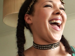Squirting UK wench cookie slammed by maledom