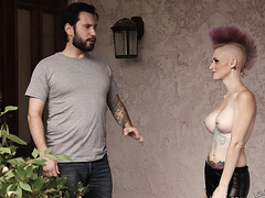 Sweetheart with a punk haircut and the anal bonking that this babe needed