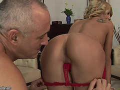 Slutty Mother I'd Like To Fuck Acquires Bare With An Old Stud And Receives Balled