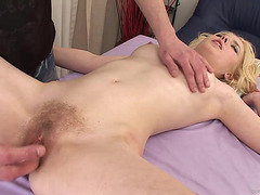 Hawt Blond Receives Her Palatable Bushy Cum-Hole Fingered And Toyed
