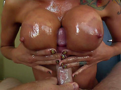 Sea J Raw acquires her giant moist bumpers drilled