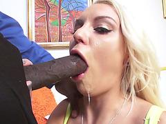 Kenzie Taylor does a sloppy,threatening face hole-gurgling deepthroat blow job