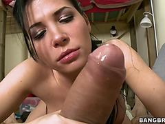 Rebeca Linares In Hot Latin Chick Oral-Job