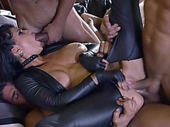 Pliant doxy team fuck sex along dudes with giant weenies