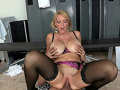 Mother I'd Like To Fuck Charlee Follow sucks cock of Xander Corvus