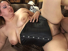 Bulky Reyna Slade In A Darksome Corset Drilled In Her Curly Overweight Bawdy Cleft