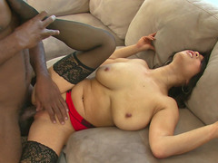 Breasty Oriental stunner receives rammed hard by a BBC
