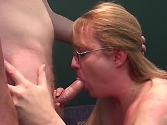 Horny Mom Sucks And Copulates A Large Knob