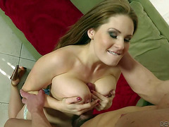 Allison Moore acquires impaled on rod after titty job