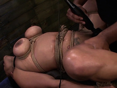 Stacked nympho Becca Diamond acquires bound up and submits to a darksome man