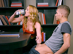 Carter Cruise strokes his wang to receive a hawt swallow