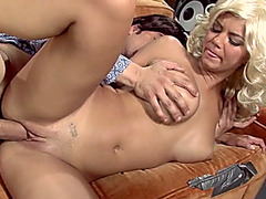 Lusty golden-haired haired sweetheart Ashlynn Brooke got screwed in sideways pose hard