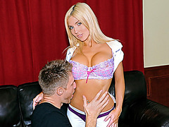 The hottest blond with biggest scoops receives screwed hard