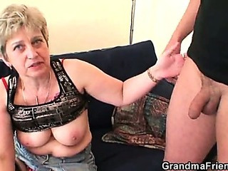Porno Video of Nasty Granny Plays With Her Pussy Then Takes Two Cocks
