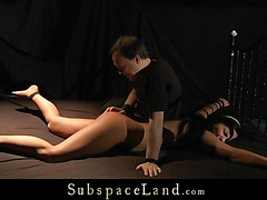 Brunette Hair thrall crying agonorgasmos in servitude